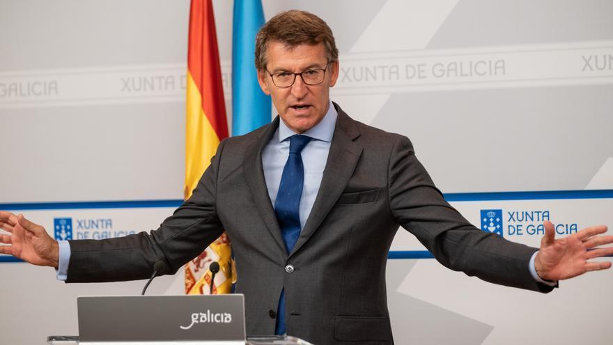 Archivo - El titular del Gobierno gallego, Alberto Núñez Feijóo, en la rueda de prensa posterior al Consello de la Xunta