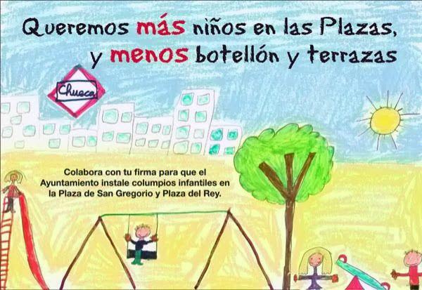 Campaña de la AVChueca para poner zonas infantiles en las plazas de Chueca