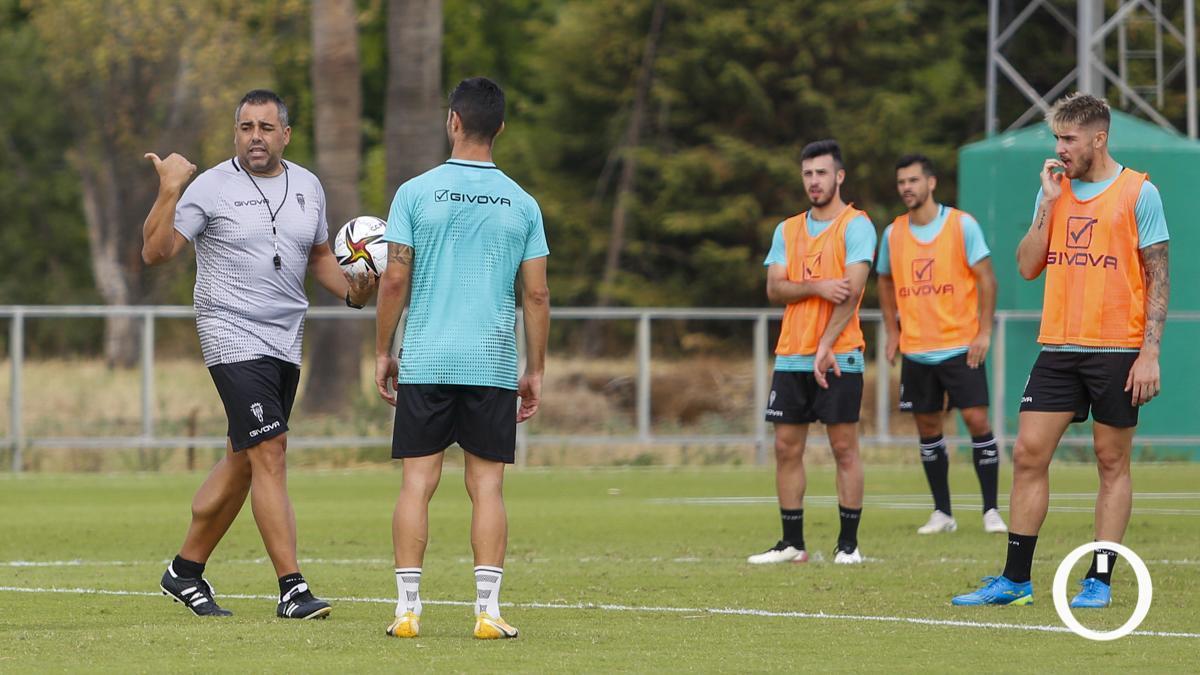 Germán Crespo en un entrenamiento del Córdoba