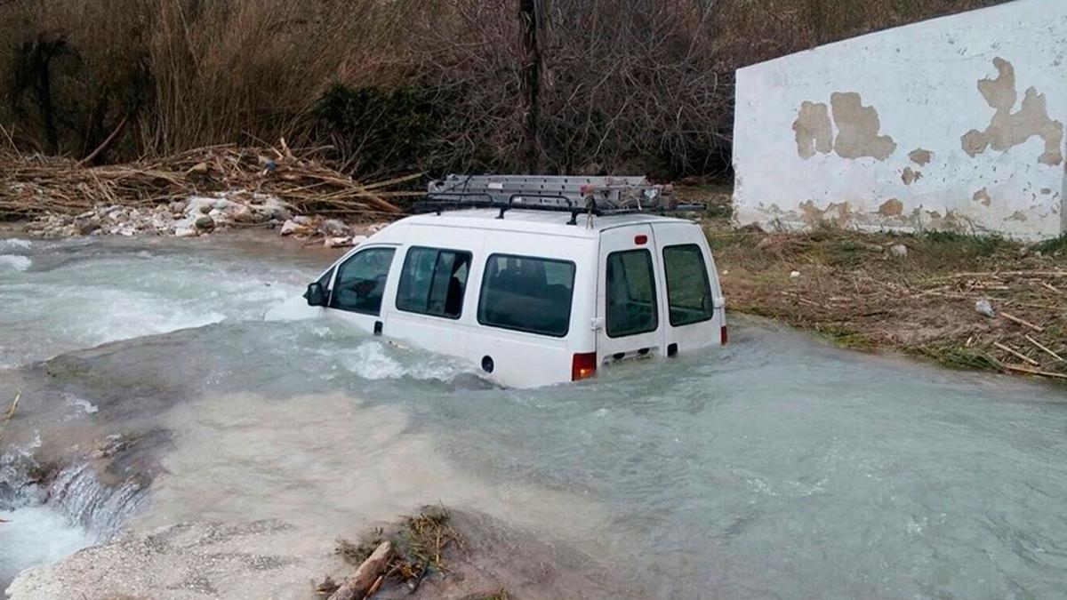 Inundación en el río Cabra en una imagen de archivo