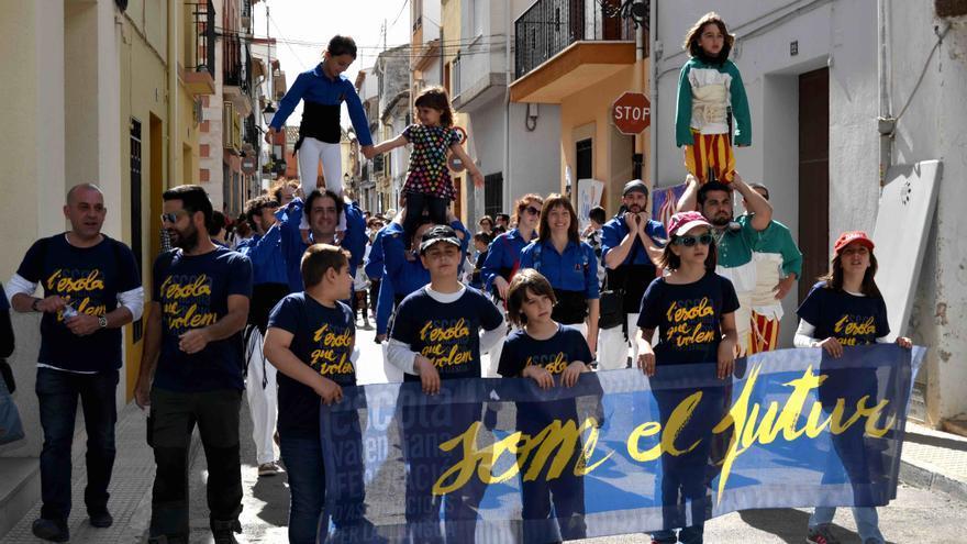 Acte durant les Trobades d'Escoles en Valencià de 2015, organitzades per Escola Valenciana.