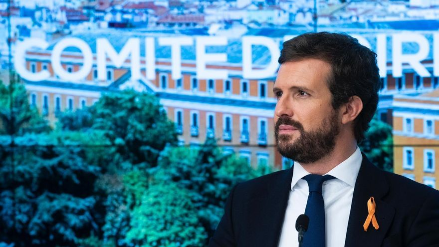 Archivo - El líder del PP,  Pablo Casado, preside la reunión del comité de dirección del PP. En Madrid, a 17 de noviembre de 2020.