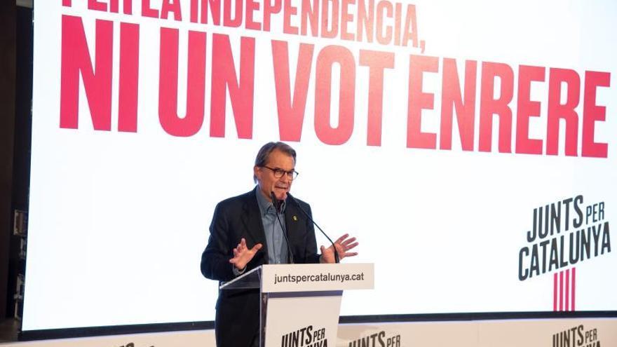 Artur Mas participa en un acto político de JxCat