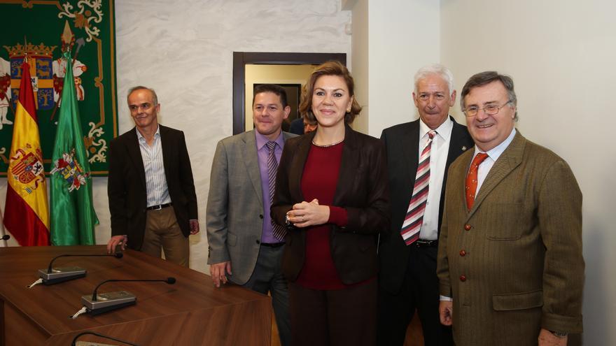 Cospedal y García-Tizón en la inauguración del Ayuntamiento de Mérida