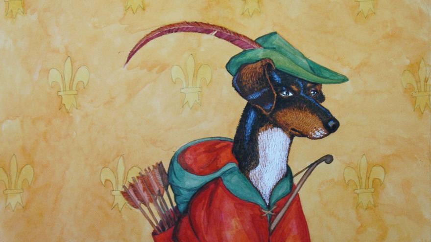 Retratos históricos de perros (y otros animales) realizados por el ilustrador @Juan Pablo Rada