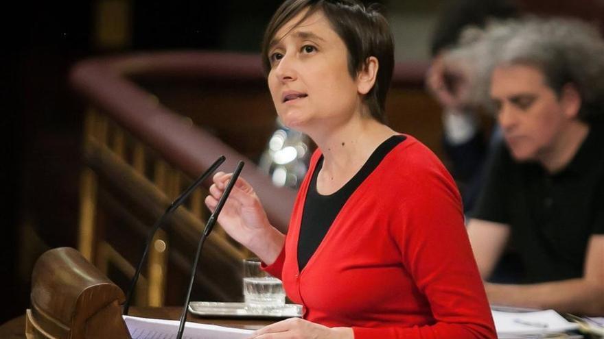 La diputada Marta Sibina durante una intervención en el Congreso