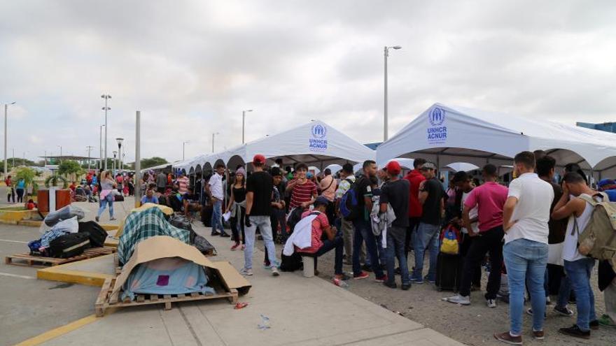 Llegan a Santiago 140 venezolanos que estaban varados en la frontera con Perú