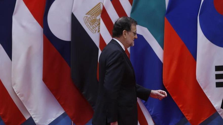 Mariano Rajoy, durante su participación en la cumbre del G20 que se celebra en Hangzhou (China) / EFE