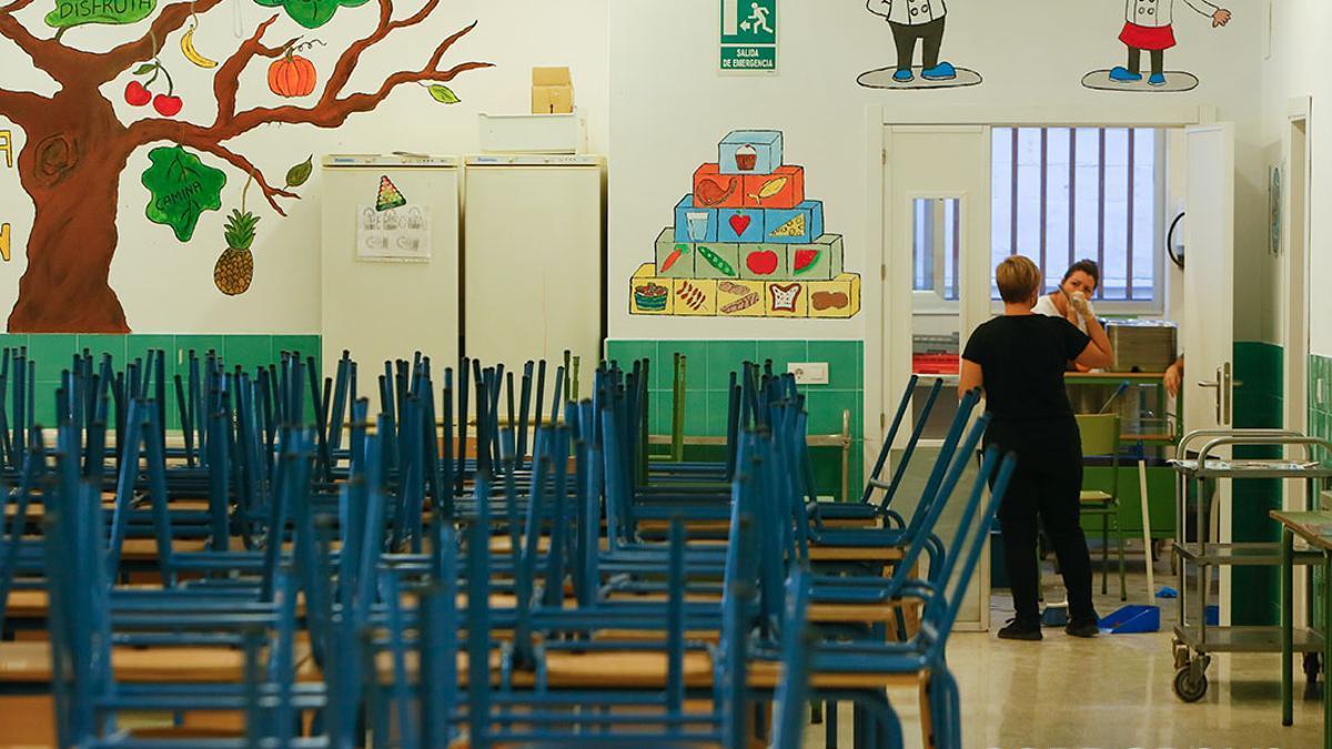 Un aula del colegio Pablo García Baena .