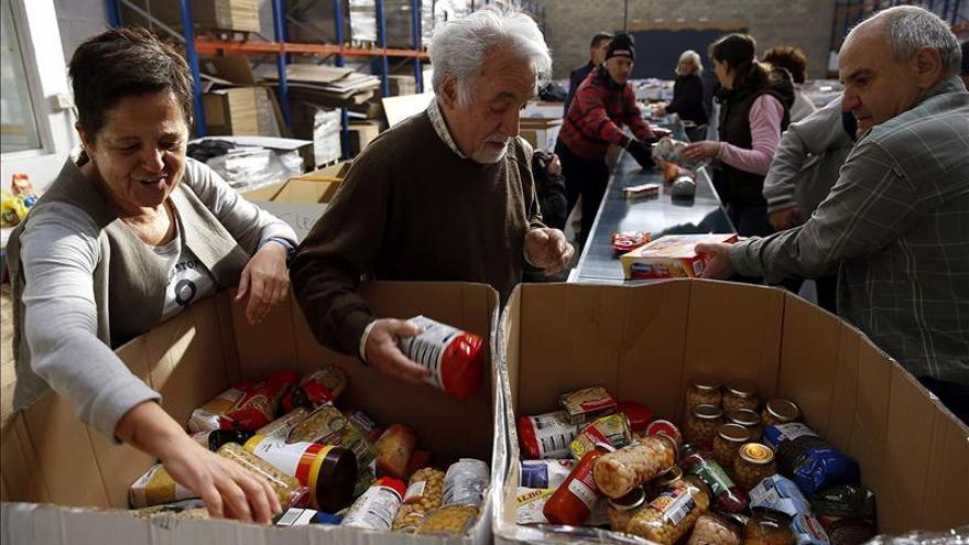 Recogidos 630.000 kg de comida en Gipuzkoa en 2 días, un 9% más que en 2014