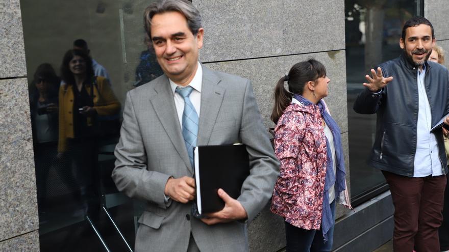 Pedro Fernández Arcila, a su llegada a los juzgados de La Laguna