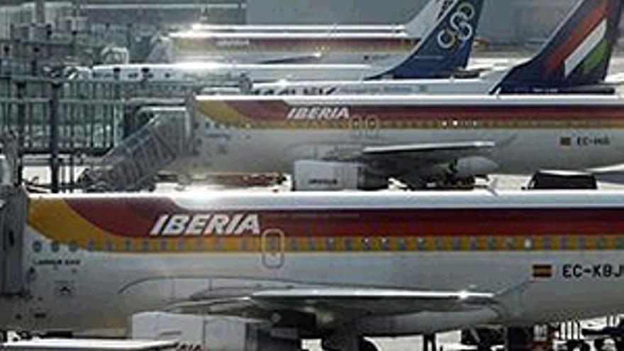 Aviones de la aerolínea Iberia.