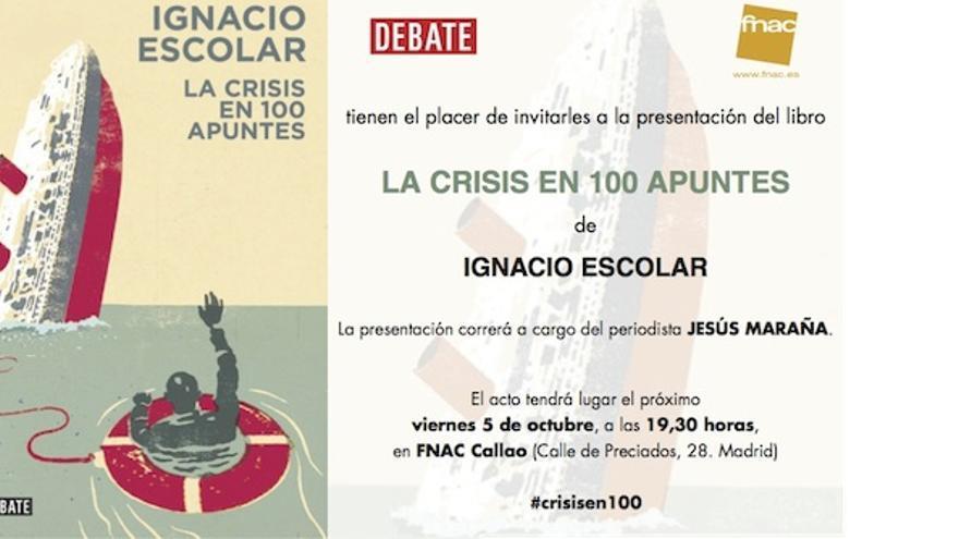 Invitación a la presentación de La crisis en 100 apuntes