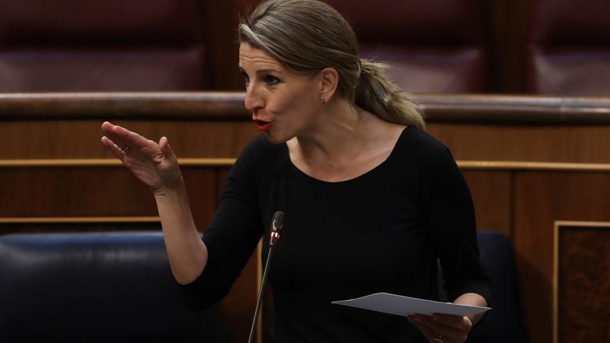 La ministra de Trabajo, Yolanda Díaz, en una imagen de archivo en el Congreso de los Diputados.