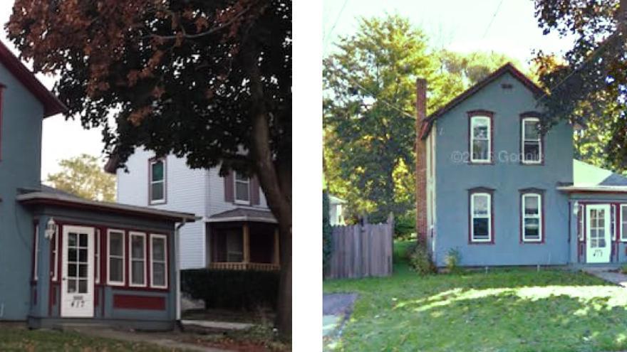 A la izquierda, la imagen de una vivienda en Airbnb y, a la derecha, la misma casa en Google Maps