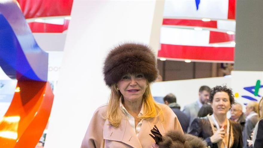 """La baronesa Thyssen protagoniza la """"Expoparty"""" de Cáceres"""
