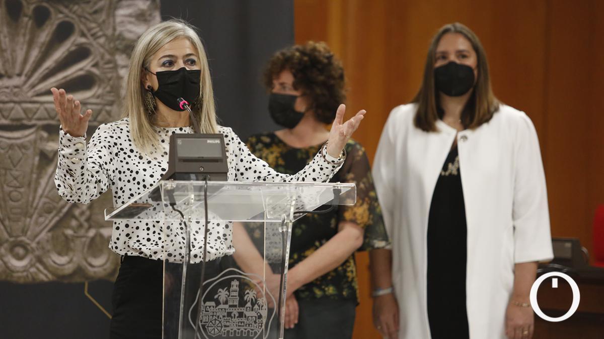 Patricia del Pozo en la presentación de la exposición 'Córdoba y el Mediterráneo Cristiano. Entre Constantino y Justiniano'