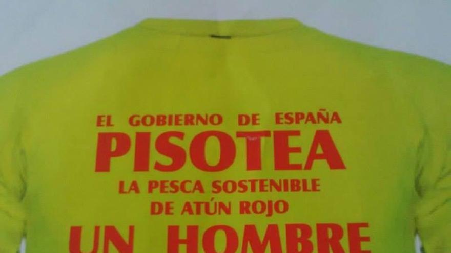Camiseta protesta pescadores canarios