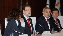 Mariano Rajoy en la apertura de la evaluación de Madrid 2020. / Efe