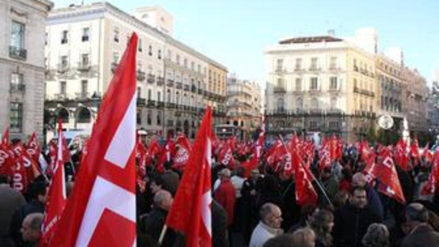 Manifestación de CCOO. (EUROPA PRESS)
