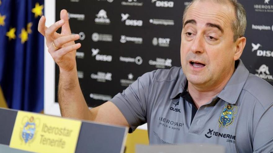 Vidorreta durante la comparecencia previa del partido Iberostar-Fuenlabrada.