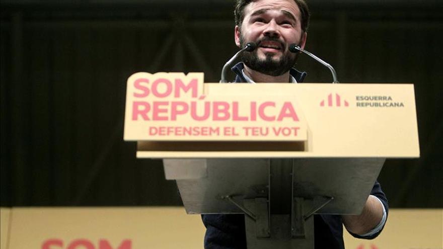 """Rufián: """"Al PP le pierde su burdo y zafio anticatalanismo"""""""