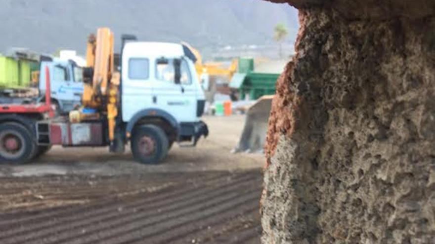 Parte de la finca donde se halla la maquinaria pesada