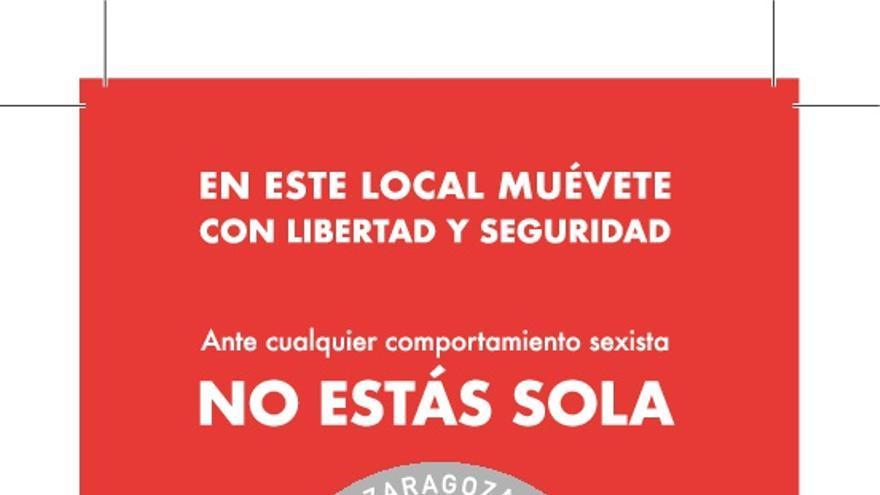 """Uno de los carteles de la campaña """"No es no"""" del Ayuntamiento de Zaragoza"""