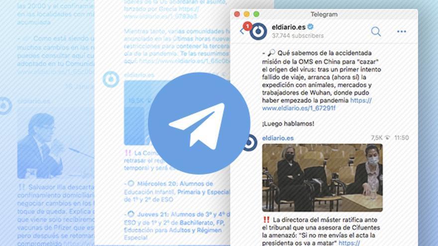 Así es el canal de Telegram de elDiario.es, líder de los medios españoles con más de 41.000 seguidores