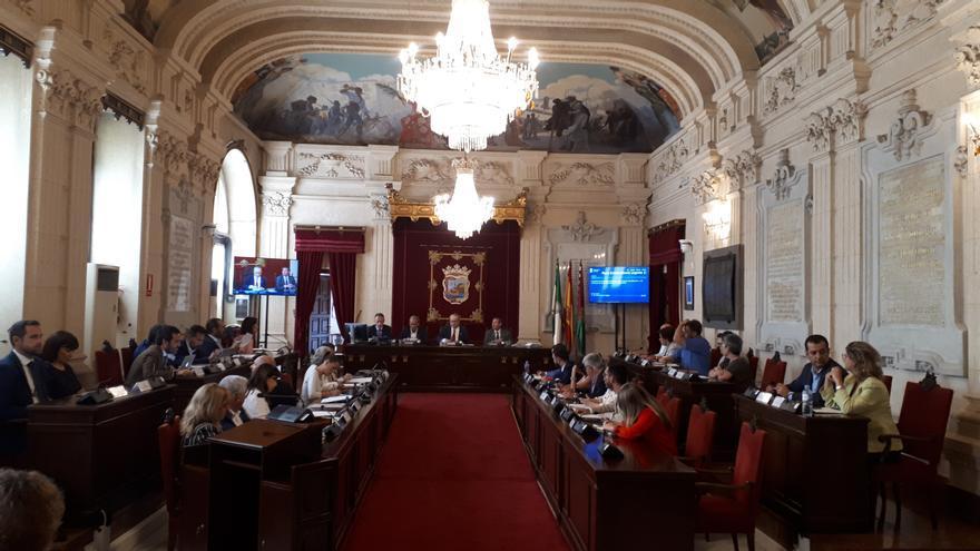 Pleno del ayuntamiento de Málaga   N.C.