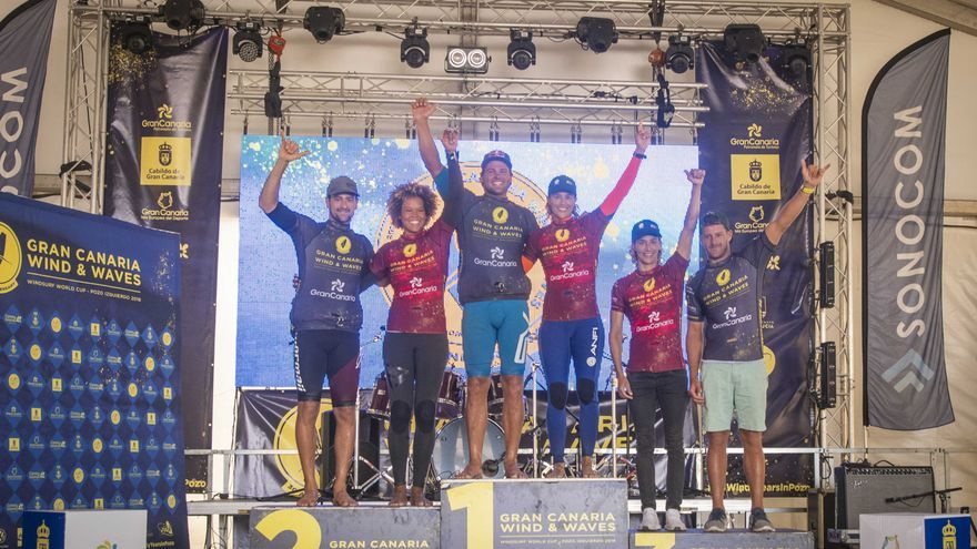 Podio final del Gran Canaria Wind and Waves Festival 2018