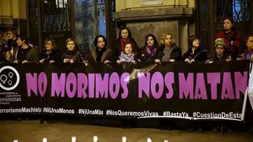 Concentración de ayer en Zaragoza.