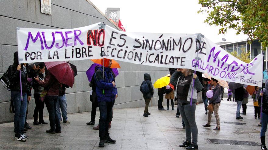 Manifestación a favor del derecho a decidir de las mujeres