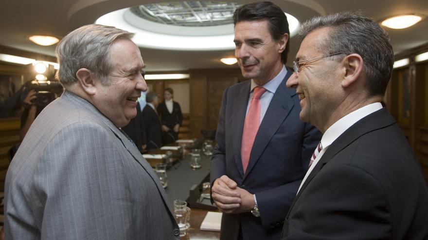 Jerónimo Saavedra, José Manuel Soria y Paulino Rivero