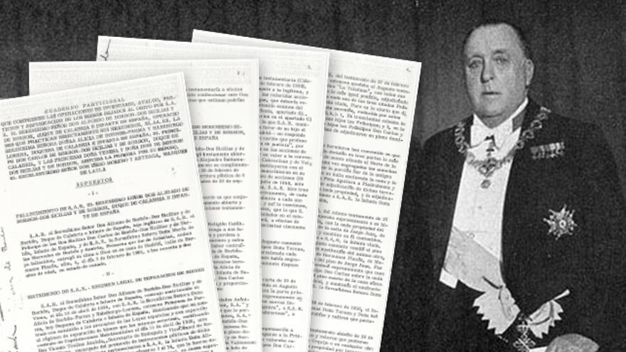 El testamento de Alfonso de Borbón, padre del Infante Carlos de Borbón, parte de la documentación trabajada por eldiario.es, La Marea y Diagonal, medios colaboradores del buzón filtrala.org