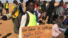 Acampada de refugiados en el desierto de Níger para protestar por el retraso en el proceso de acogida europea