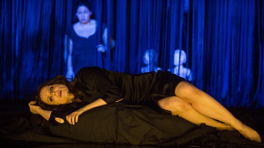 Aitana Sánchez Gijón durante la representación de 'Medea'.