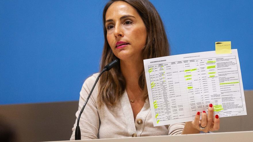 La portavoz del Gobierno de Zaragoza, María Navarro (PP)