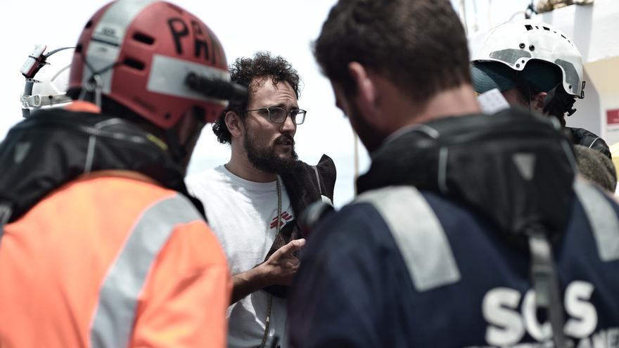 Aloys Vimard, coordinador de MSF a bordo del Aquarius.