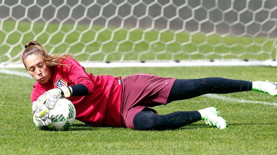 La andaluza Lola Gallardo, portera de la selección española y del Atlético de Madrid