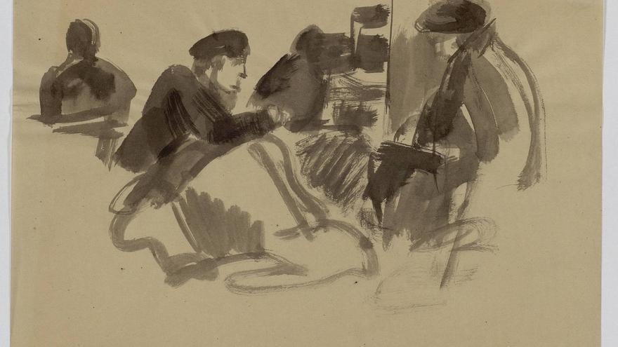 Uno de los dibujos de José Manaut en prisión