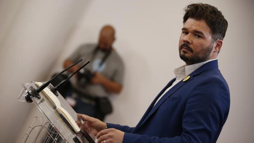ERC no bloqueará la legislatura de Sánchez pero exige hablar sobre Cataluña