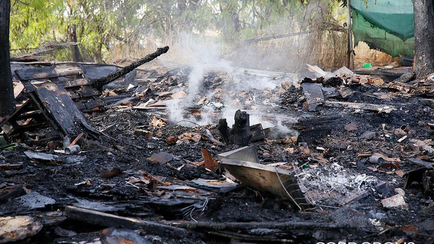 Asentamiento que ha sufrido un incendio   MADERO CUBERO