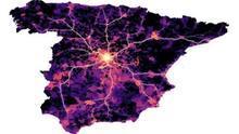 Patrón de propagación de la epidemia desde Madrid