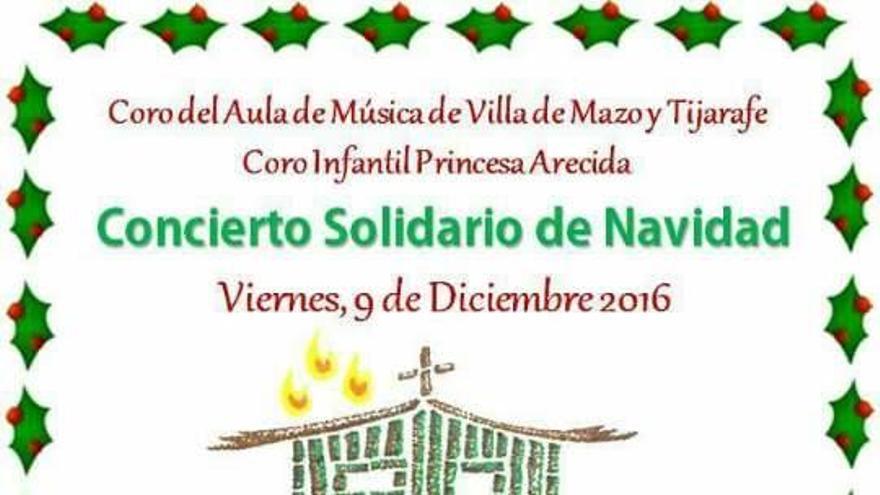 Cartel del concierto solidario de Navidad a favor de las Carmelitas Misioneras Teresianas.