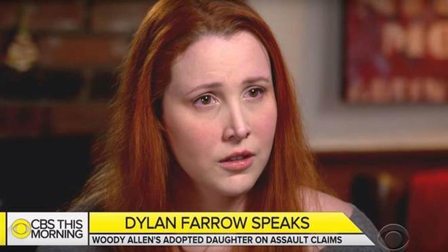Dylan Farrow durante la entrevista con 'CBS This Morning'