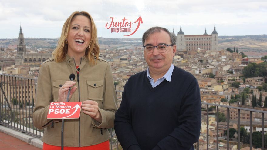 Cristina Maestre y Fernando Mora FOTO: PSOE CLM