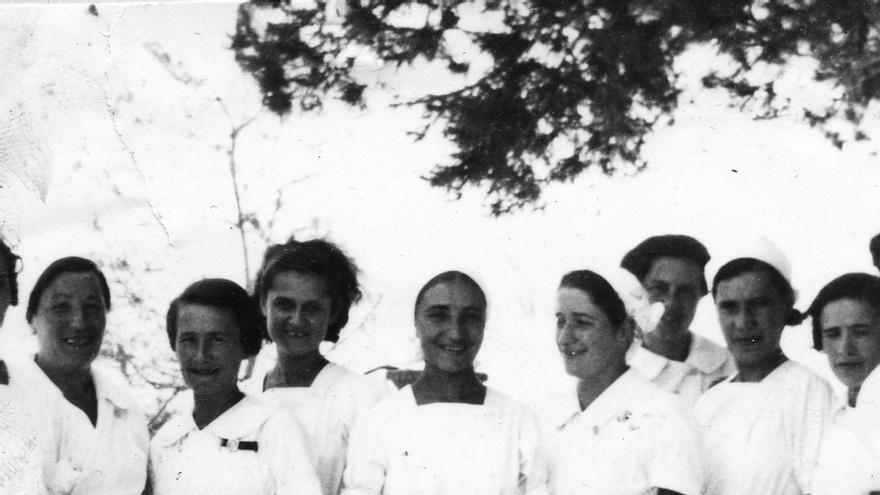 El grupo de voluntarias. | LAS MAMÁS BELGAS