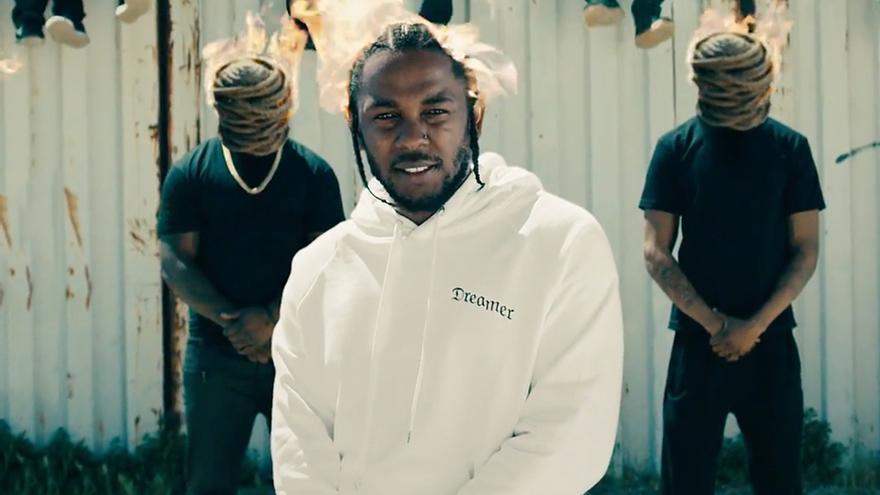 Kendrick Lamar en el videoclip de 'HUMBLE'