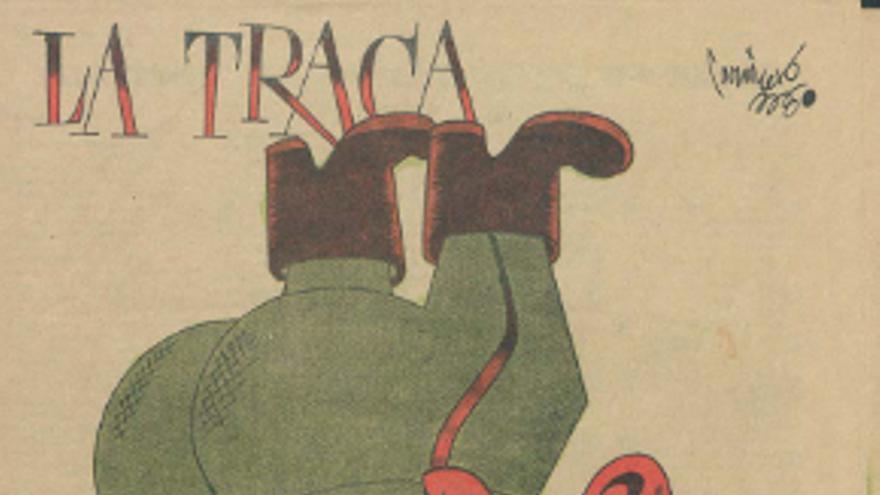 El general Franco en la portada del número 1.227 de 'La Traca' publicado en 1938.
